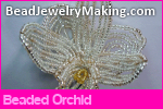 Beaded Orchid Flower