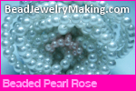 Beaded Pearl Rose